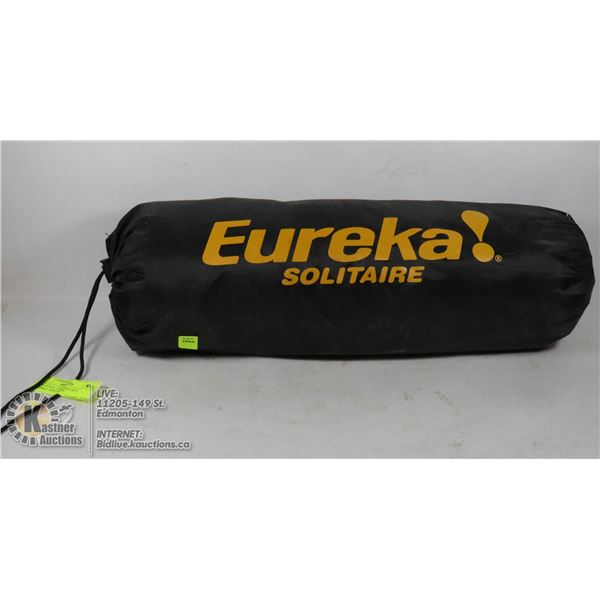 BIVY STYLE 1 PERSON TENT   EUREKA!  SOLITAIRE USED ONCE VERY CLEAN, NO DAMAGE, AS NEW.  COMPACT, LIG