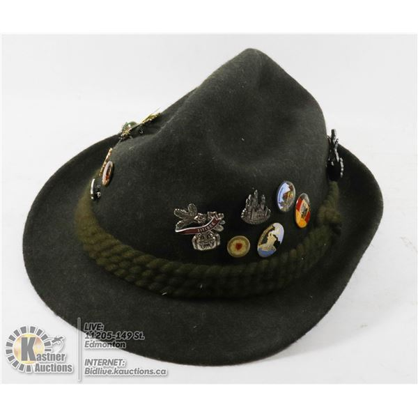 HAT WITH GERMAN PINS