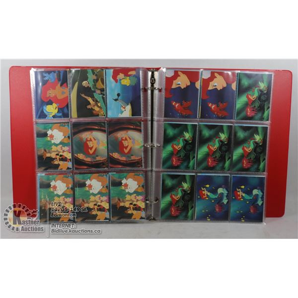 COLLECTION OF ASSORTED 1991 THE LITTLE MERMAID DISNEY COLLECTOR CARDS, APPROX. 30+ (155 ACTUAL)