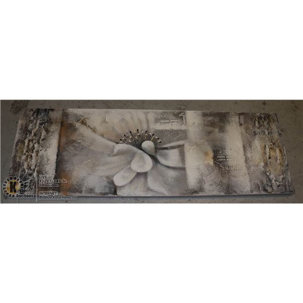 WALL ART 20x60 INCHES GREY & WHITE TONES