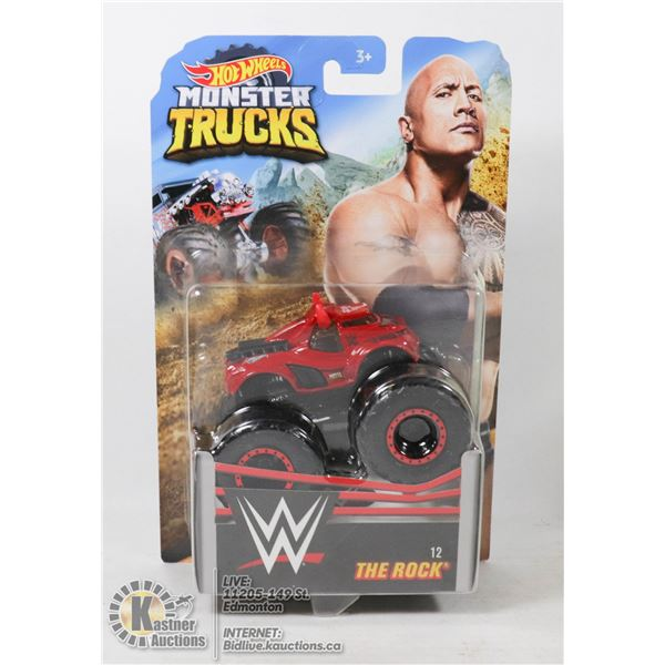 "WWE HOT WHEELS MONSTER TRUCK OF "" THE ROCK """