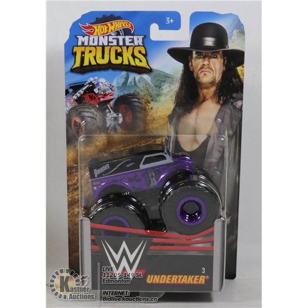 "WWE HOT WHEELS MONSTER TRUCK OF "" UNDERTAKER """