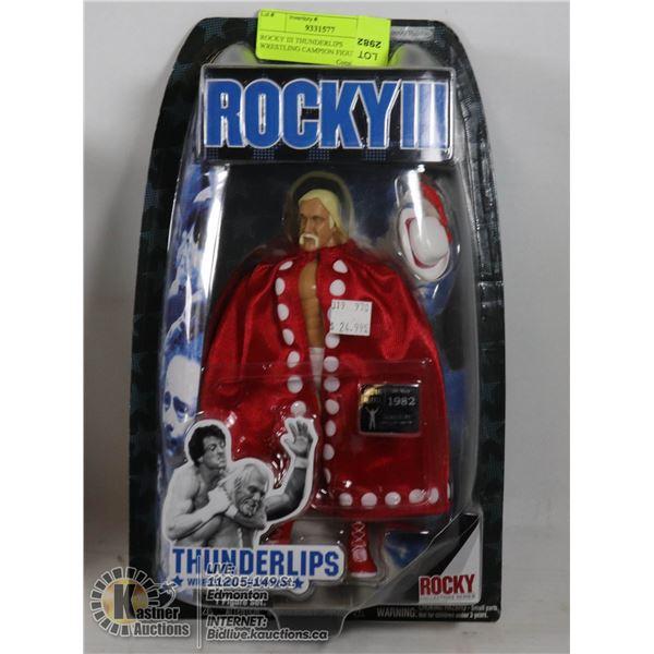 ROCKY III THUNDERLIPS WRESTLING CAMPION FIGURE