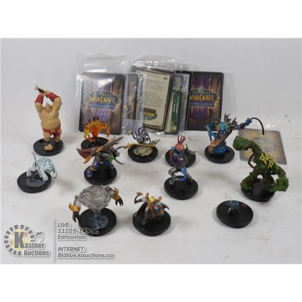 WORLD OF WARCRAFT MINIATURE GAME FIGURES, USED