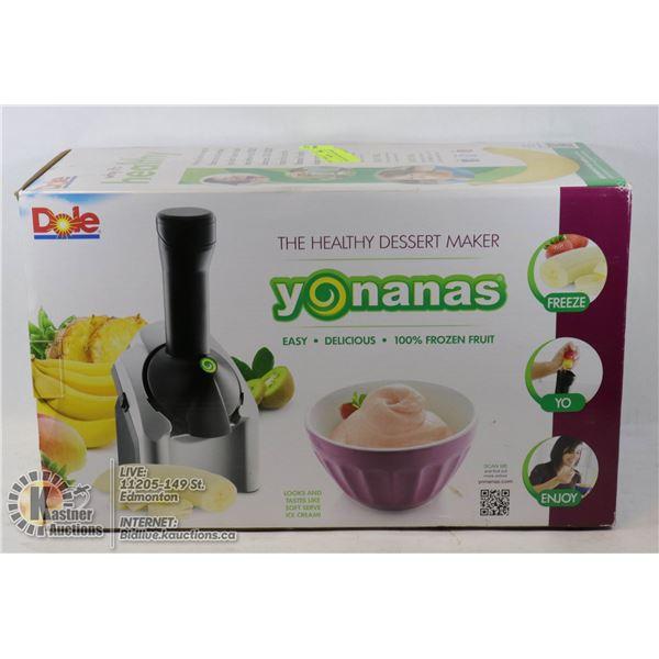 YONANAS FROZEN DESERT MAKER NEW IN BOX