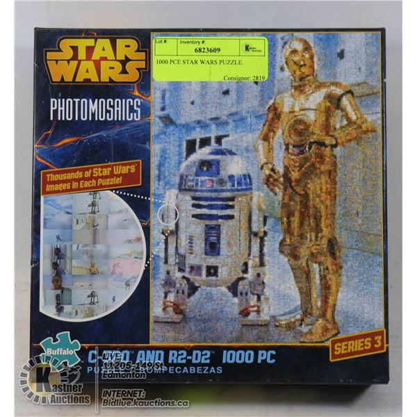 1000 PCE STAR WARS PUZZLE. C-3PO AND R2-D2 PHOTOMOSAIC. NEW