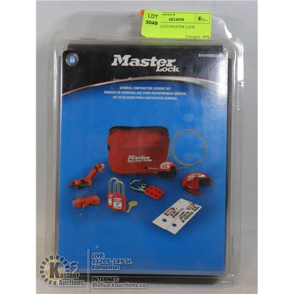 NEW/SEALED MASTER LOCK GENERAL CONTRACTOR LOCK-OUT KIT