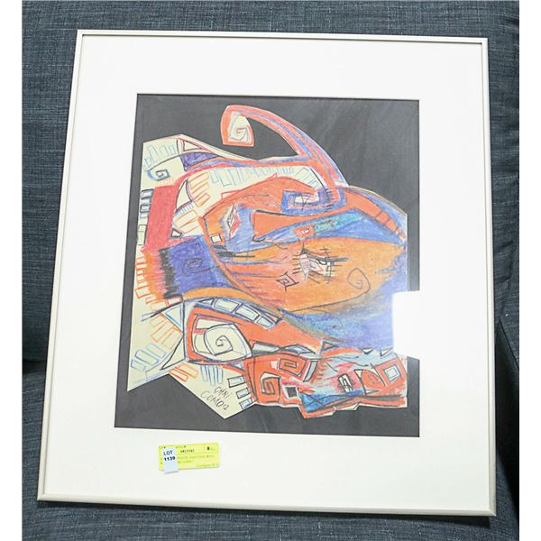 ORIGINAL PASTEL PAINTING WELL KNOWN CHRI COMO APPROX 19 X 21 SIGNED AND FRAMED