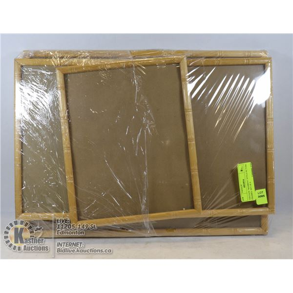 """VINTAGE """"BAMBOO"""" STYLE PICTURE FRAMES- SET OF 4"""
