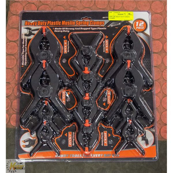 NEW 12PC HEAVY DUTY SPRING CLAMPS