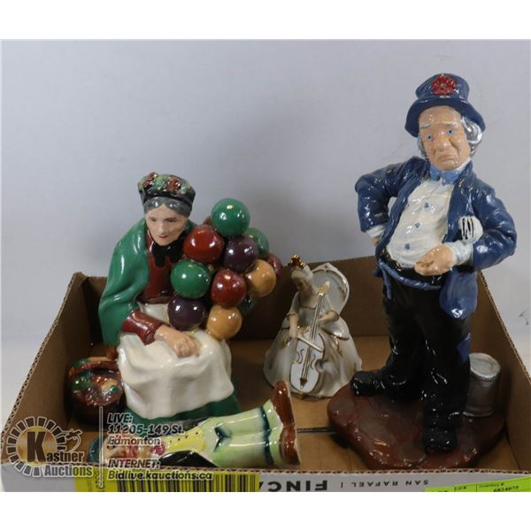 LOT OF FOUR FIGURINES