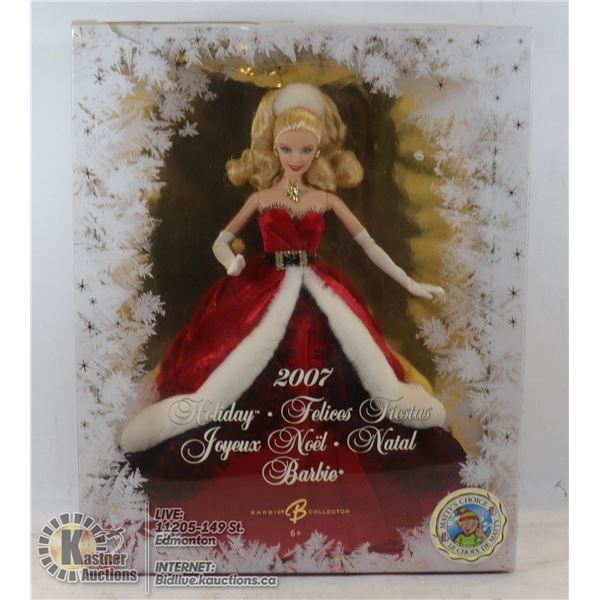 2007 HOLIDAY BARBIE UNOPENED - GOOD CONDITION