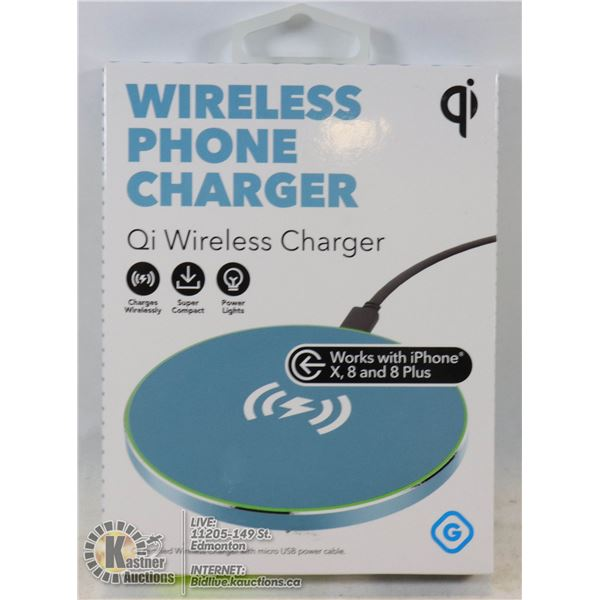 NEW GEMS WIRELESS QI PHONE CHARGER QI STANDARD COMPATIBLE.