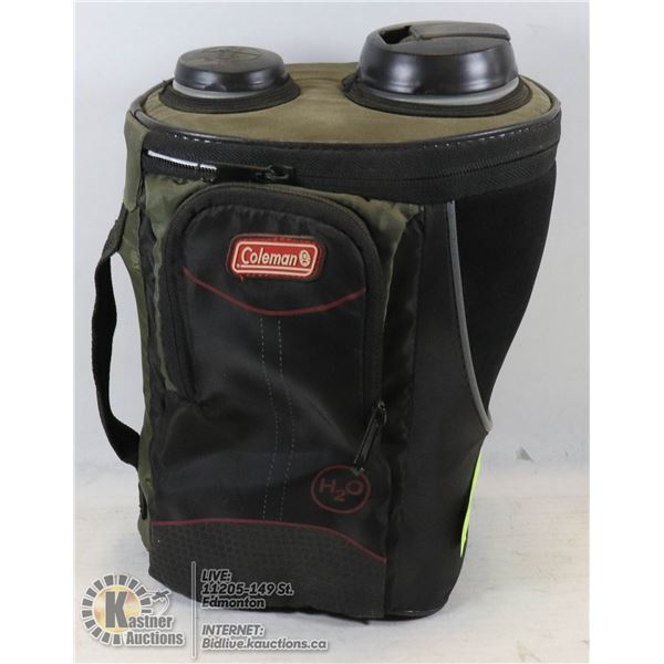 COLEMAN WATER CONTAINER W/ COOLING COMPARTMENT