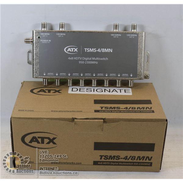 NEW 4*8 HDTV DIGITAL MULTISWITCH 950-2300 MHZ.