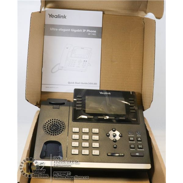 NEW YEALINK ULTRA-ELEGENT GIGABIT IP PHONE.