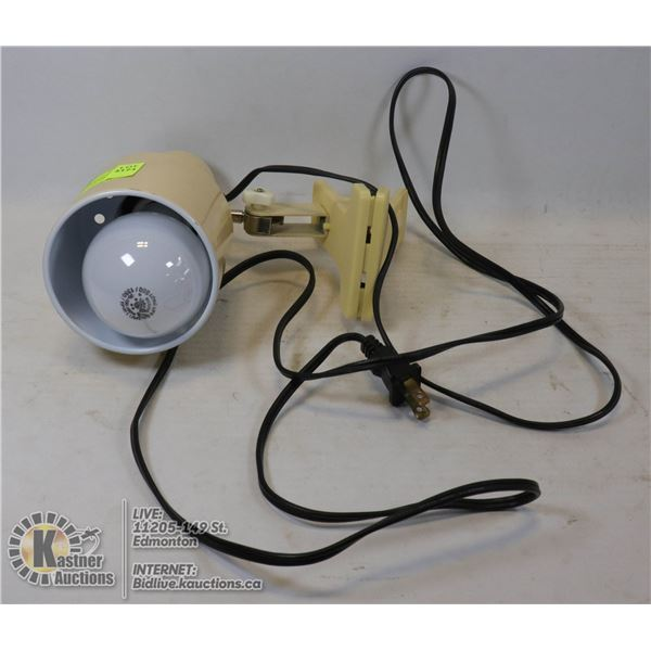 CLIP LAMP FOR CLOSEUP LIGHTING