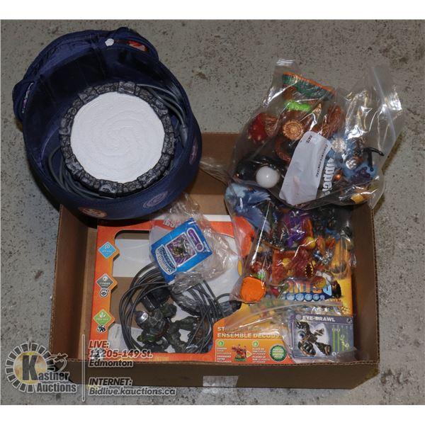 NINTENDO Wii SKYLANDERS GIANTS x2 CONSOLES, FIGURE USED, WORKING ORDER