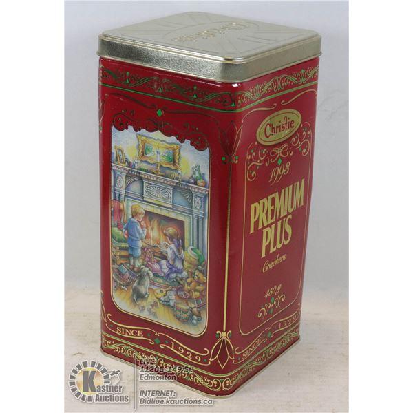 CHRISTIE PREMIUM PLUS VINTAGE 1993 CHRISTMAS TIN