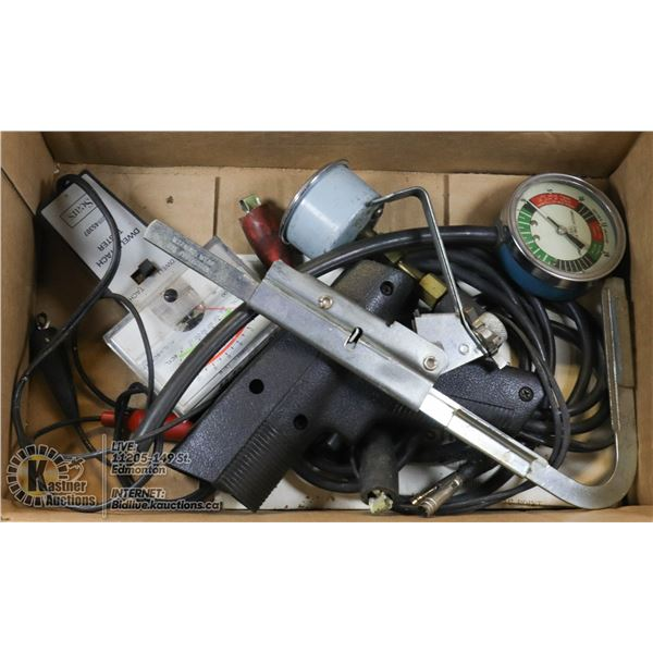 BOX OF TUNE UP TOOLS