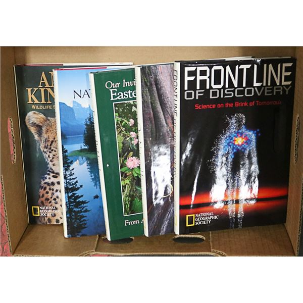 LOT OF 5 NATIONAL GEOGRAPHIC HARDCOVER BOOKS