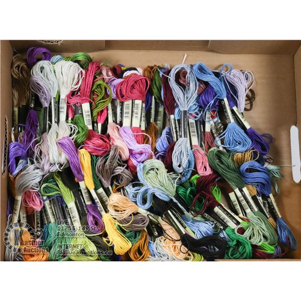 FLAT OF EMBROIDERY FLOSS, VARIOUS COLORS