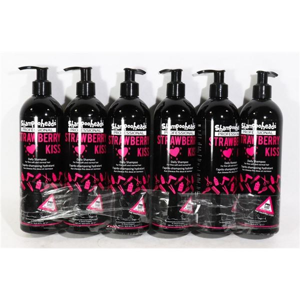CASE OF 6 (500ML,EA) STRAWBERRY KISS PROFESSIONAL SHAMPOO FOR FINE SOFT AND NORMAL HAIR. MADE IN THE
