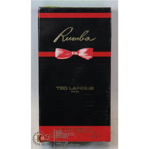 AUTHENTIC APPROX 97% FULL RUMBA BY TED LAPIDUS EAU DE TOILETTE, 100ML, WOMANS SPRAY