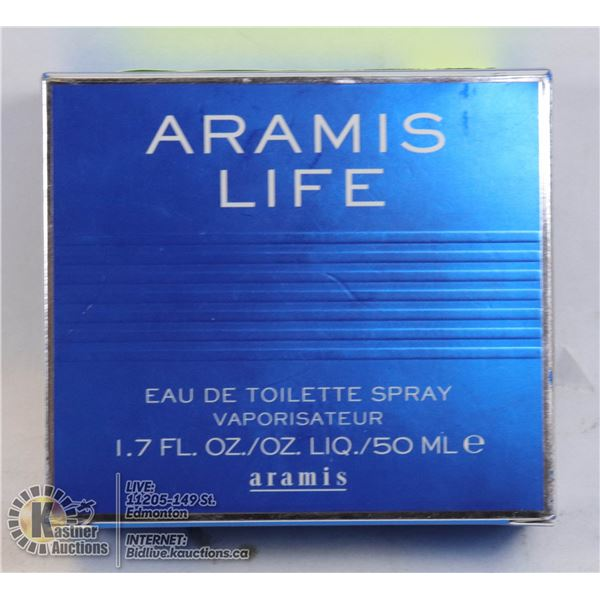 AUTHENTIC 98% FULL ARAMIS LIFE BY ARAMIS EAU DE TOILETTE, 50 ML MENS SPRAY