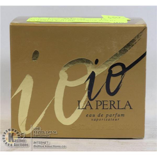 AUTHENTIC RARE APPROX 97% IO LA PERLA EAU DE TOILETTE,32ML, LADIES SPRAY