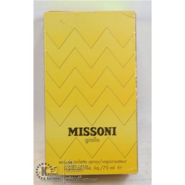 AUTHENTIC APPROX 90% FULL MISSONI GIALLO BY MISSONI, EAU DE TOILETTE 75ML, LADIES SPRAY