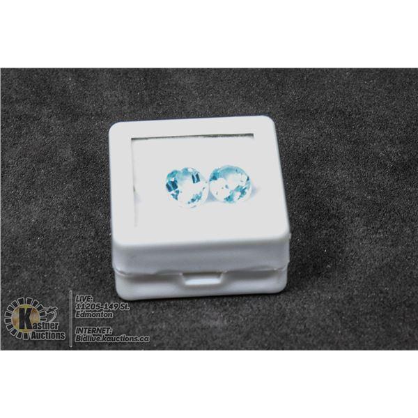 #227-SKY BLUE TOPAZ GEMSTONES 7 x 9mm 5.10ct JEWELRY/ TREATED/ OVAL