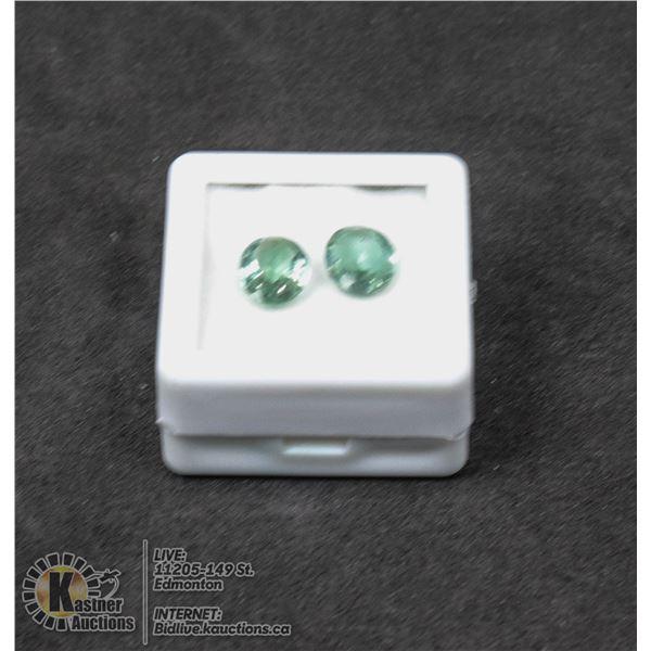 #179-GREEN AMETHYST GEMSTONES 7 X 9mm 2.85ct JEWELRY/ UNTREATED/ OVAL