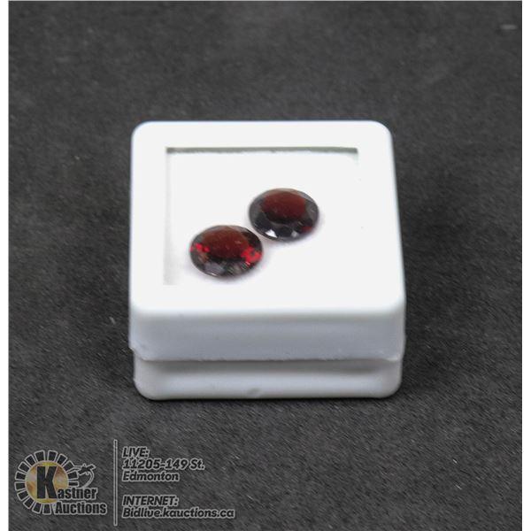 #175-DARK RED GARNET GEMSTONES 8mm/ 3.88ct JEWELRY/ UNTREATED/ ROUND