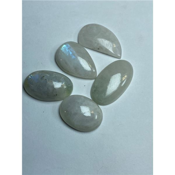 #63-NATURAL MOONSTONE 119.25ct JEWELRY/ SILVER PLATED/ HEALING MINERAL