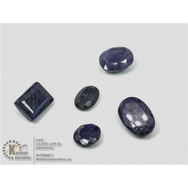 #87-BLUE SAPPHIRE GEMSTONES 63.90ct JEWELRY/ COLOUR ENHANCED