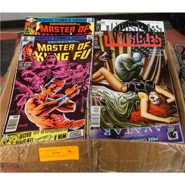 BOX OF ASSPORTED COMICS