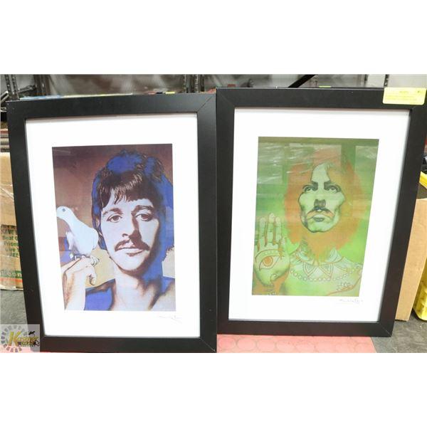 FRAMED ARTWORK GEORGE HARRISON AND RINGO STARR