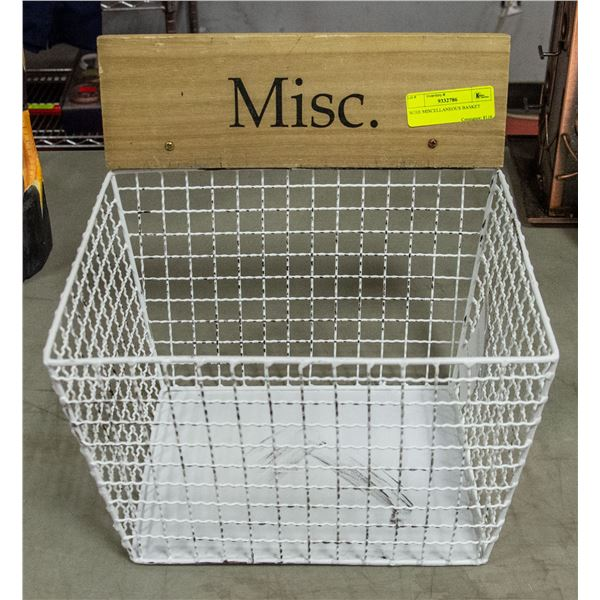 WIRE MISCELLANEOUS BASKET
