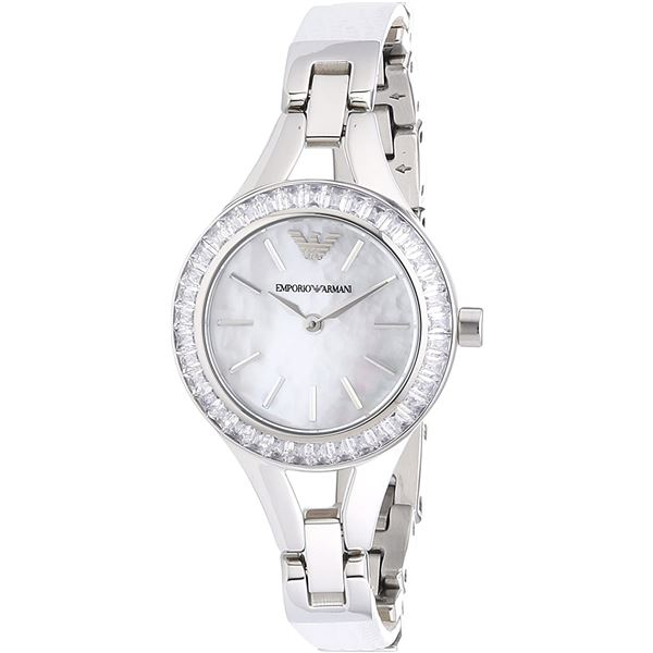 NEW EMPORIO ARMANI 28MM M-OF-PEARL DIAL MSRP $395