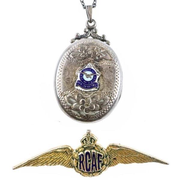 Lot (2) RCAF Pin Vintage