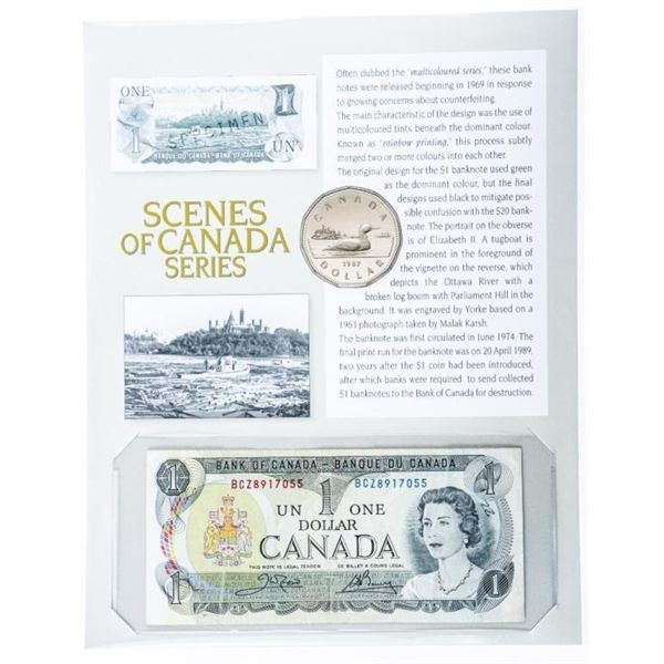 Scenes of Canada Series - Bank of CANADA 1973  1.00 Note