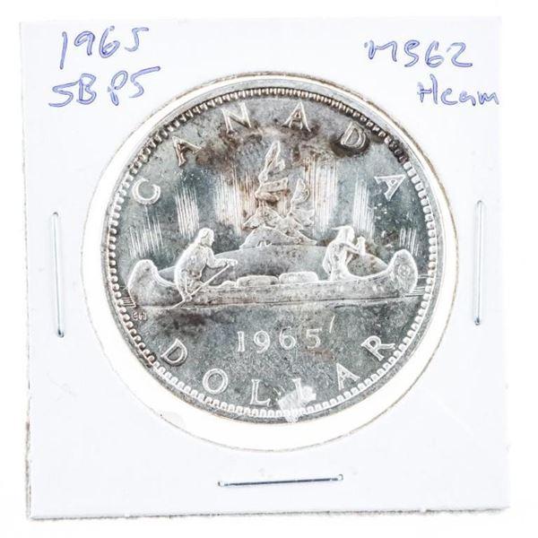 1965 Canada Silver Dollar SB/P5 MS62 Cameo