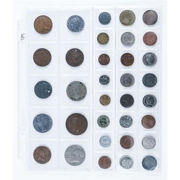 Group of (34) World Coins