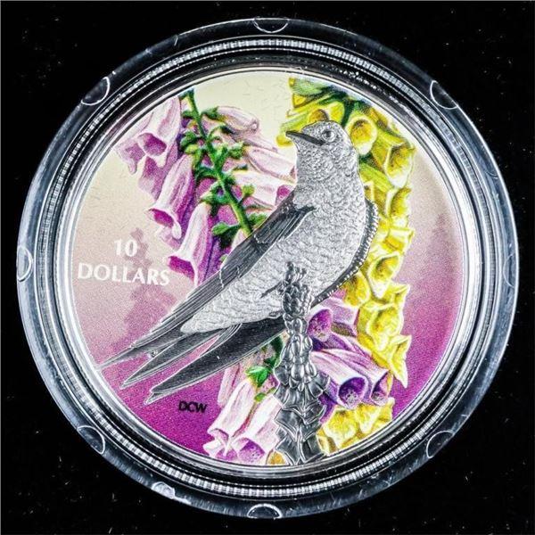 RCM 2017 Purple Martin' .999 Fine Silver  $10.00 C.O.A. LE