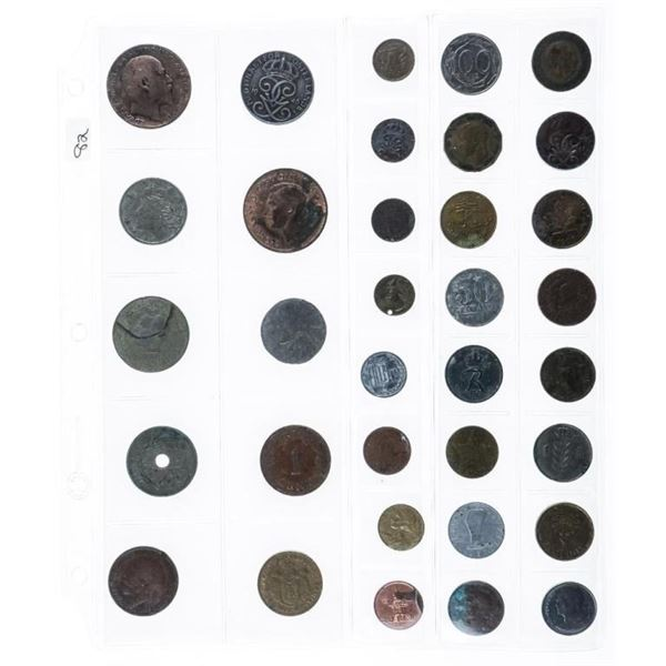Group (34) World Coins Assorted