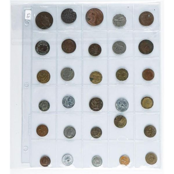 Lot (30) World Coins.