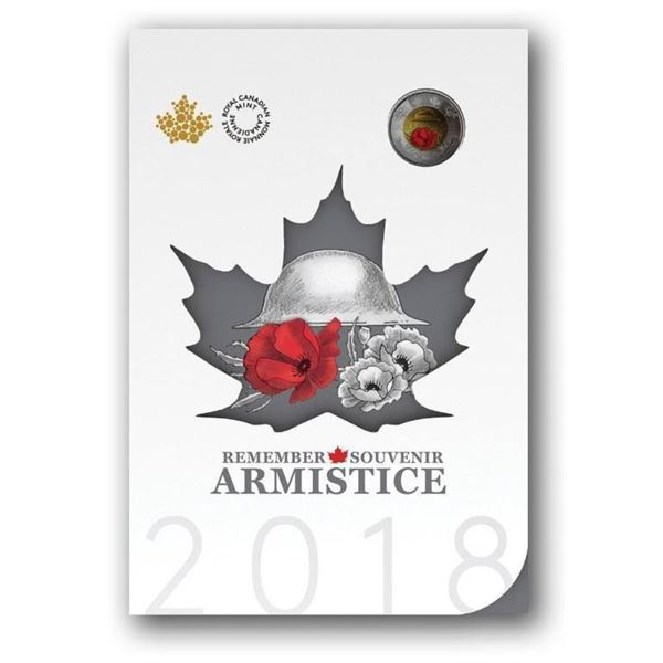 RCM 2018 'Armistice' Special Issue - Red  Poppy 2.00 Coin Gift Folio