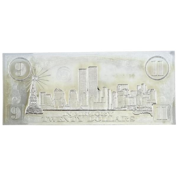 Silver Memorial 911 Twenty Dollars