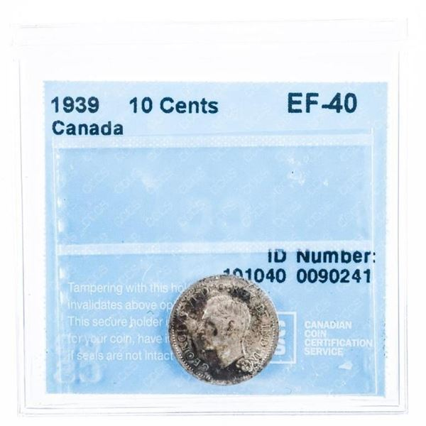 1939 Canada 10 cents. EF 40